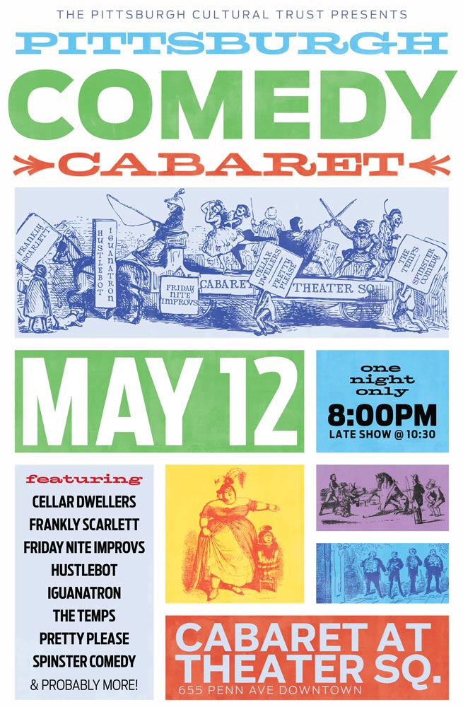 Pgh Comedy Cabaret 11x17 Poster